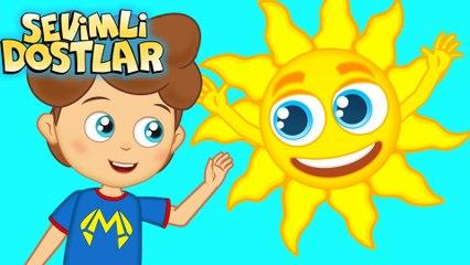 Güneş ile Ay - Sevimli Dostlar Çocuk Şarkıları | Okidokido