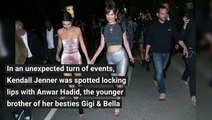 Kendall Jenner Spotted Kissing Gigi & Bella Hadid's Younger Brother