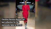 Carolina Herrera Fall 2018 Collection at NYFW