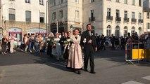 Fêtes d'Arvor de Vannes. couronnement de Élodie Trégouët, nouvelle reine d'Arvor