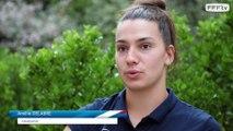 """U20 Féminine, Mondial 2018 : Amélie Delabre """"Si je peux aider défensivement..."""", interview l FFF 2018"""