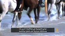 # الجزيرة - موريتانيا: نوادي الفروسية في نواكشوط: تدريبات ومسابقات صباحية على شاطئ نواكشوط
