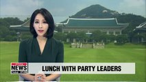 President Moon to discuss pending National Assembly issues with floor leaders of rival parties
