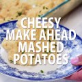 These CHEESY MAKE AHEAD MASHED POTATOES are a fabulous way to make your holiday meal prep a whole lot easier. Make them a day or two in advance and check them o