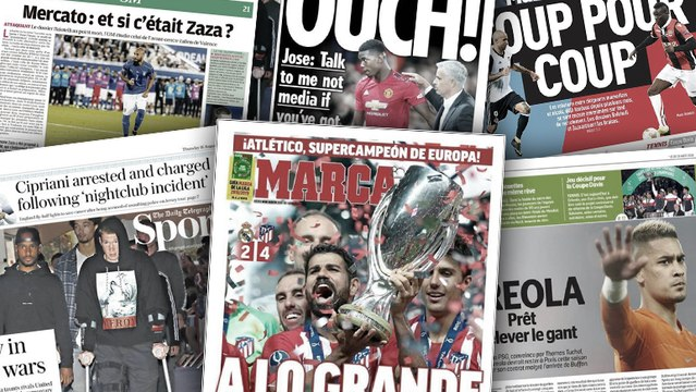 Rien ne va plus entre Pogba et Mourinho, la presse espagnole s'enflamme pour la victoire de l'Atlético