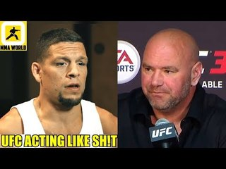 Nate Diaz was upset because he was on stage and UFC were talking about Khabib vs Conor,Dana on GSP