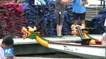 Rain or shine, paddle the dragon boat! More than 200 well-trained teams braved rainfalls during the 28th annual Hong Kong Dragon Boat Festival in New York.