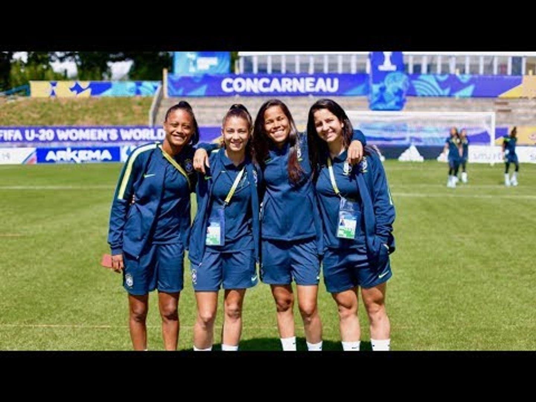 Seleção Feminina Sub-20: Meninas conhecem o palco do duelo decisivo entre Brasil x Coreia do Norte