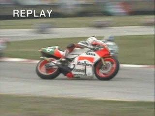 Luca Cadalora Crash | 1989 Italian Bike GP 250cc race | Misano