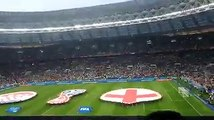 #GrupoLPGenRusia | Así fue el ingreso de la selección de Croacia e Inglaterra al campo del estadio Luzhniki. #violetaenrusia: