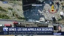 Gênes: les premiers appels aux secours de témoins paniqués