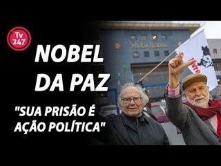 """Nobel da Paz visita Lula: """"sua prisão é ação política"""""""