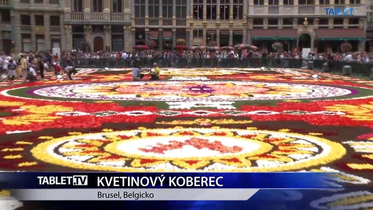 Bruselský kvetinový koberec je tento rok na mexické motívy