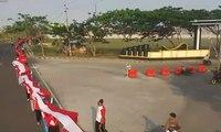 Bendera Merah Putih 7,5 km Pecahkan Rekor MURI