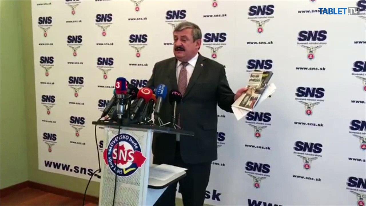 ZÁZNAM: TK podpredsedu SNS a predsedu Výboru NR SR pre obranu a bezpečnosť Antona Hrnka
