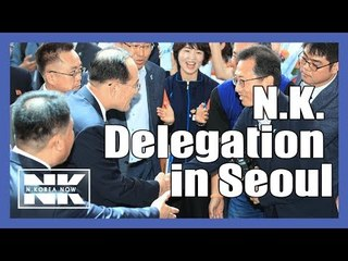 N.K. delegation in Seoul for joint workers' football match