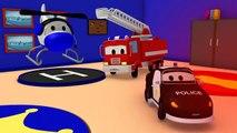 La Super Patrouille, camion pompier et voiture de police - la sirène d'Amber a été volée à Car City