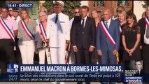 À Bormes-les-Mimosas, Emmanuel Macron effectue sa première sortie officielle