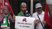 İstanbul'daki Suriyelilerden 'Dolar Bozdurma' Kampanyasına Destek...