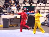 Wushu is one of the Chinese martial arts, this display by two female participants at the 10th World Wushu Championships is clear evidence of the stamina involve