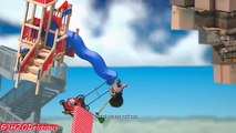 Gamers Reions to Falling Down at Danger of Falling Sign | Getting Over It