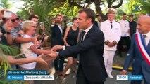 A Bormes-les-Mimosas, Emmanuel Macron s'offre sa première sortie officielle