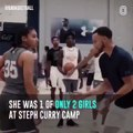 Meet Azzi Fudd one of only two girls at Steph Curry Camp who beat the boys in the 3-Point contest and got a chance to shoot against Steph - August 18, 2018