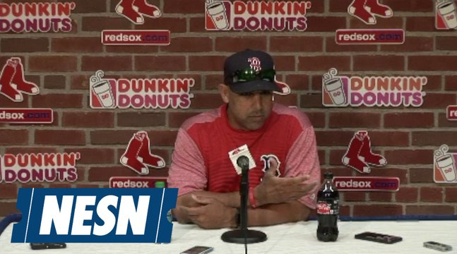 Alex Cora talks Red Sox injuries before Game 1 vs. Rays