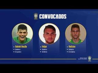 Seleção Brasileira Sub-20: convocação para os amistosos contra Japão e México