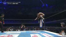 Kota Ibushi Double foot stomps through Kenny Omegas head from the top turnbuckle | NJPW  G1 Climax 28 (2018) | NJPW | Kota Ibushi Vs Kenny Omega | New Japan Pro Wrestling