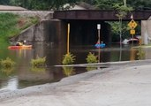 Floodwaters Submerge Roads in Watertown, Wisconsin