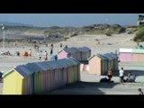 La plage de Berck sur mer dans le Pas de calais en Haut de France
