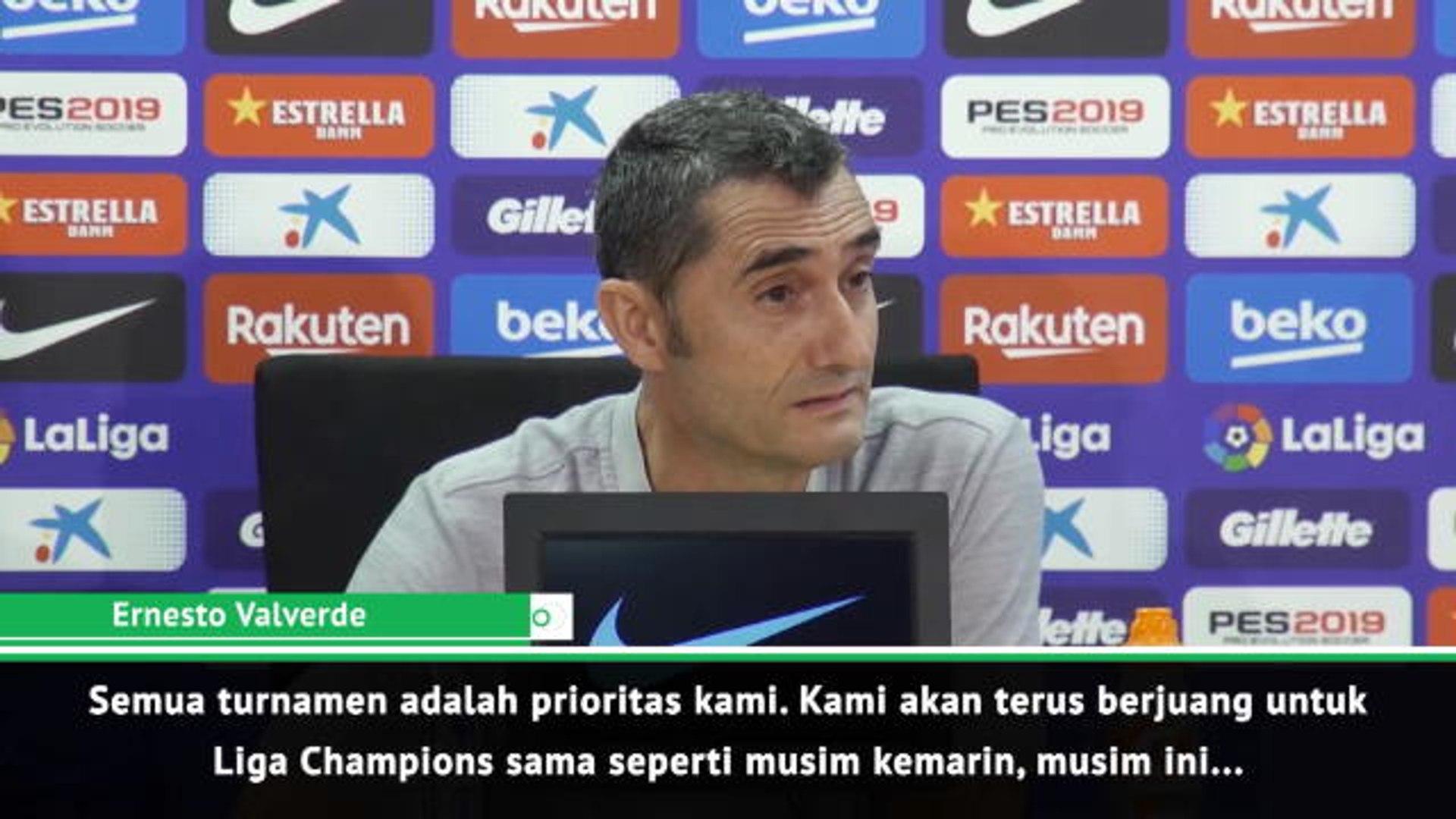 Kesuksesan di La Liga Akan Jadi Acuan Barca di Liga Champions - Valverde