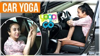 Car Yoga | How To Do Yoga In The Car | Travel Yoga Video | Yoga On The Go With AJ | Yoga For Travel