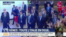 Matteo Salvini fait son entrée dans la fiera de Gênes à quelques minutes de la cérémonie