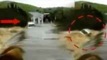 Madhya Pradesh के Jhabua में बारिश का कहर, खिलौने की तरह नदी में बह गई Car | वनइंडिया हिंदी