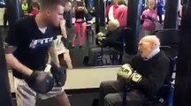 This 88 -year-old man is battling Parkinson's disease and still hitting the pads!Respect!credit: Fit 4 Boxing Club and Rock Steady Boxing Pittsburgh