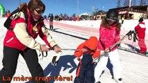 Hugo : ses premiers pas au ski! WHERE IS ANGIE.AND HUGO?