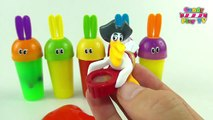Learn Colours with Slime Surprise Toys Party Learn Colors with Surprise Bunny Slime