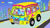 Wheels on the Bus Go Round and Round Rhyme with Lyrics | English Nursery Rhymes for Childr