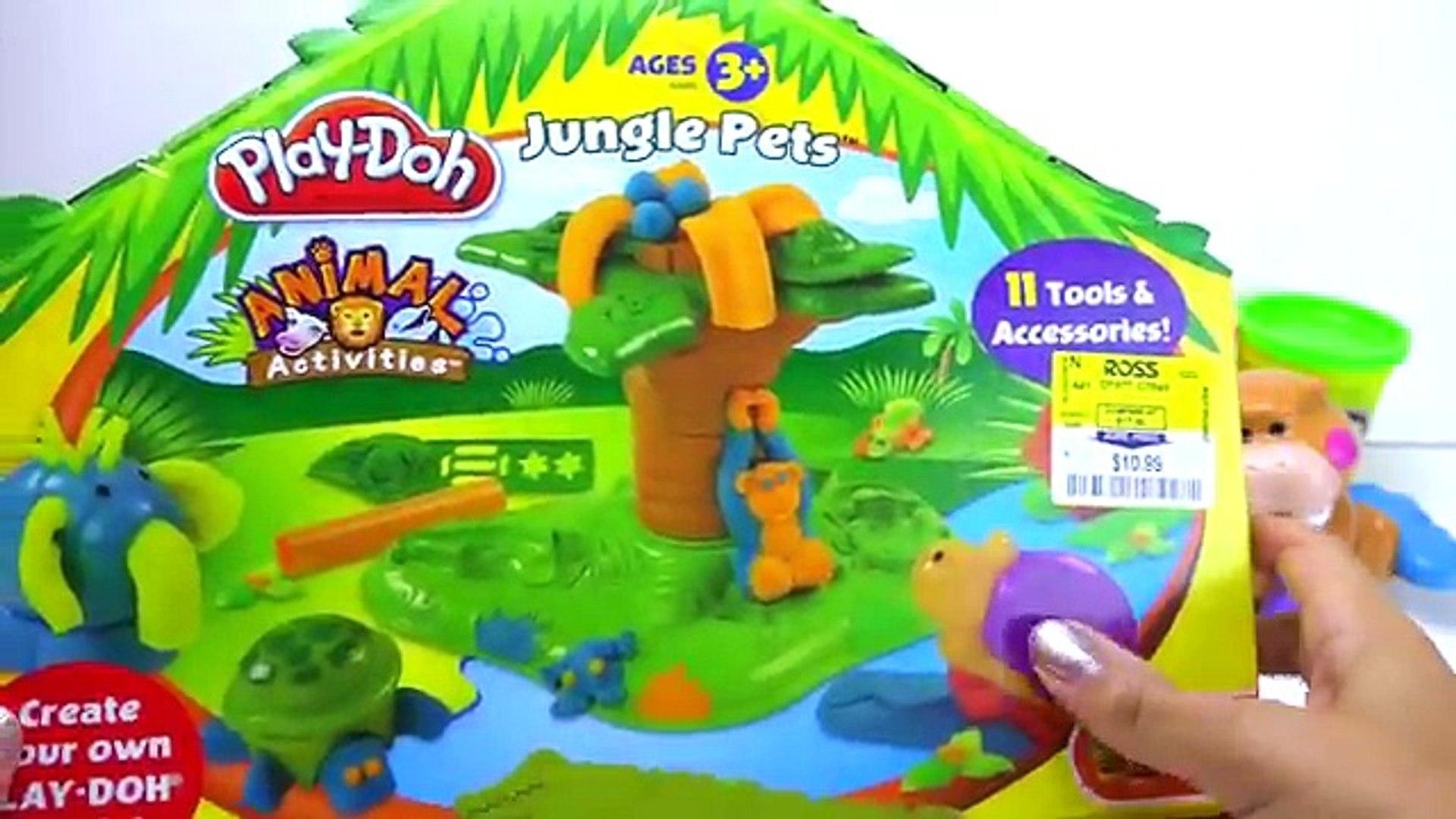 пластилин Play Doh Awesome Jungle Pets Animals set Плей до джунгли и дикие животные!