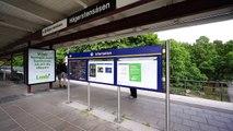 Sweden, Stockholm, Hägerstensåsen Subway Station, U Bahn, escalator and SMW elevator ride