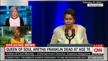 Queen of Soul Aretha Franklin dead at age 76. #ArethaFranklin