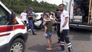 Anadolu Otoyolu nda trafik kazasi 4 yarali DUZCE