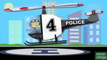 Police Helicopters Teaching Numbers 1 to 10 Helicopter Number Counting for Kids