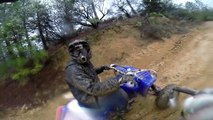 YFZ450 and Raptor 700 four wheeler riding up trail 17 ** The Chute ** Trail Blogger