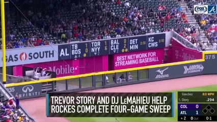 Trevor Story and DJ LeMahieu Power Rockies to Complete 4-Game Sweep Against Braves
