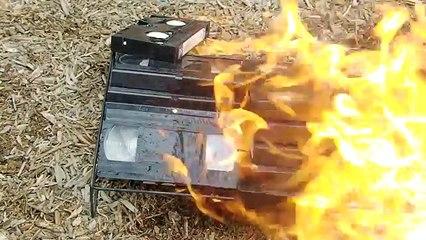 Burning VHS Tapes