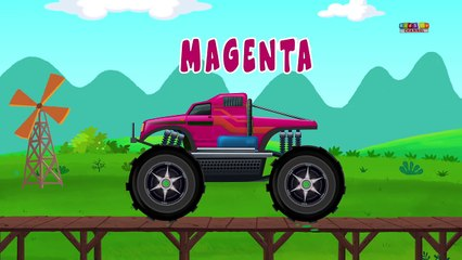 monster trucks | learn colors | coloring toy trucks | kids video
