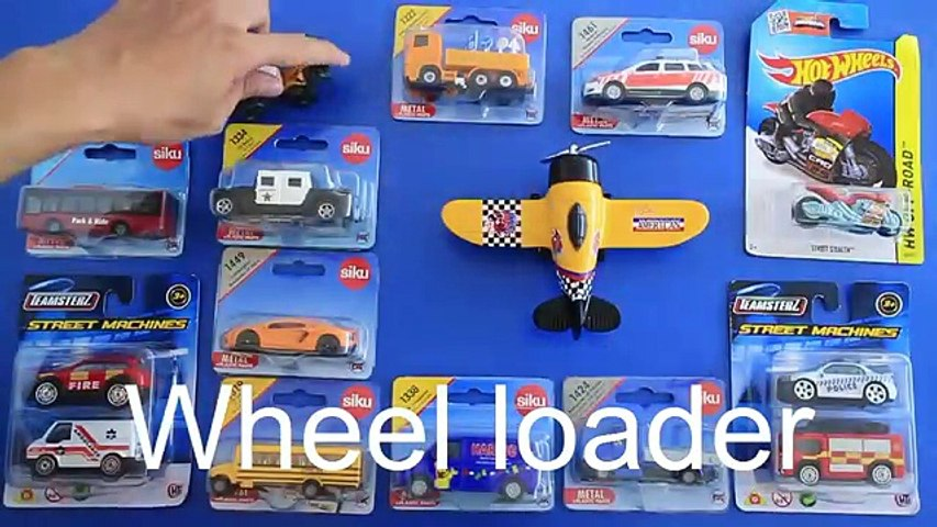 Learning Street Vehicles Names and Sounds for kids with Toys new Cars and Trucks
